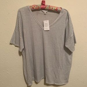 NWT stripped lucky brand tee